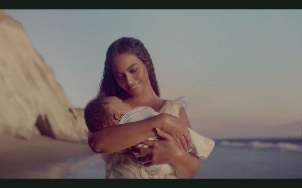 Beyonce and baby in 'Black Is King'