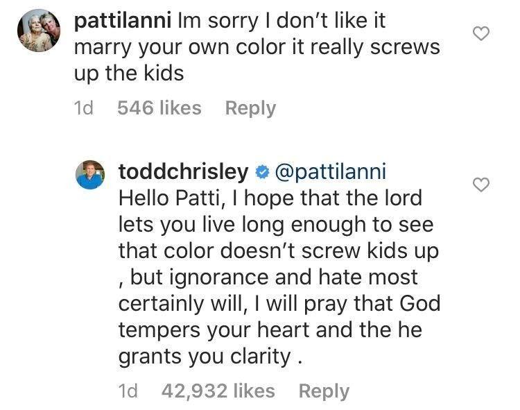 todd chrisley instagram reply