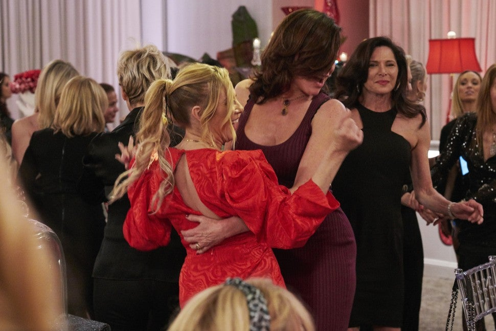 Luann de Lesseps and Ramona Singer dance at Ramona's birthday party on 'The Real Housewives of New York City.'