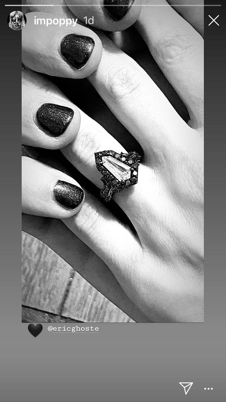 Poppy's engagement ring