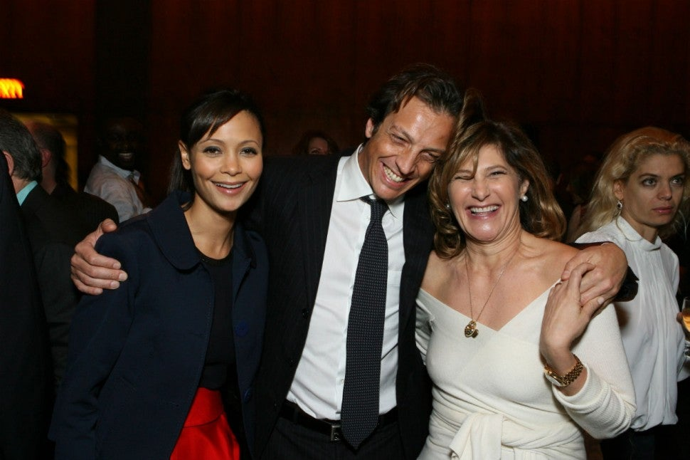 Thandie Newton and Amy Pascal