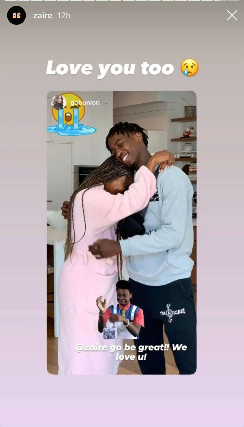 Gabrielle Union and Zaire Wade
