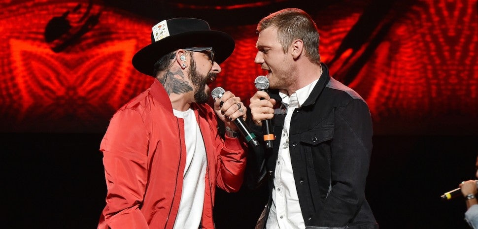 funny  funny news Nick Carter and AJ McLean