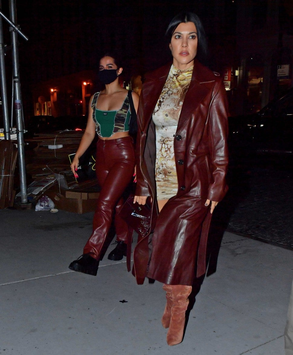 Addison Rae and Kourtney Kardashian step out in matching fashion for dinner in NYC