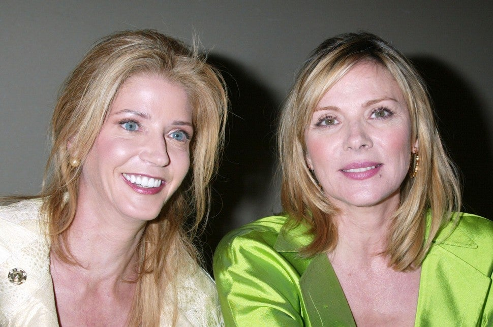 Candace Bushnell and Kim Cattrall