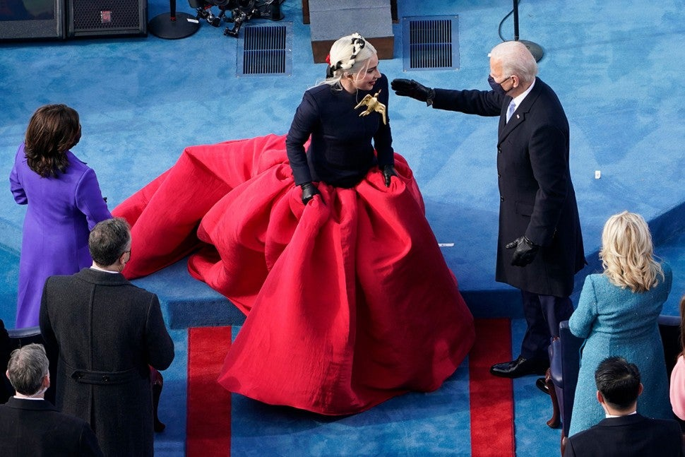 Lady Gaga sings national anthem at Inauguration Day for Joe Biden