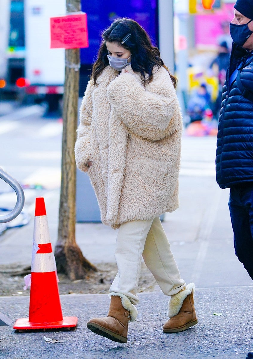Selena Gomez wearing Ugg Baily Button II Boot