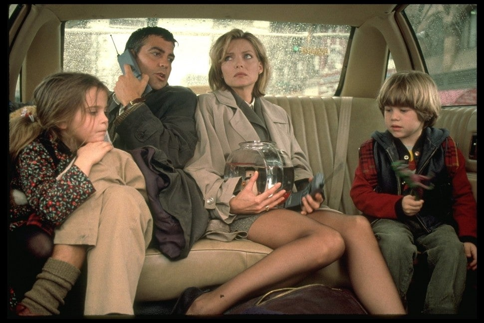 George Clooney and Michelle Pfeiffer in 'One Fine Day'