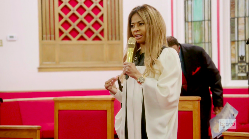Mary Cosby preaching at Faith Temple Pentecostal Church on 'The Real Housewives of Salt Lake City.'