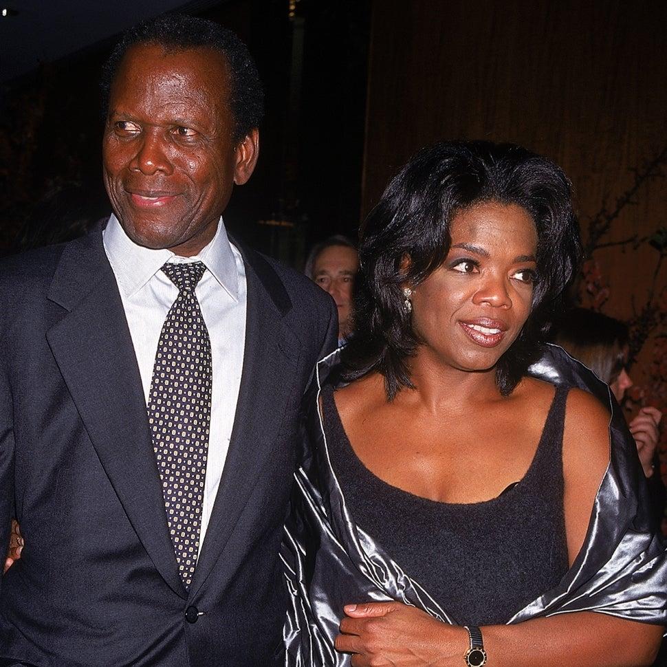 Sidney Poitier and Oprah Winfrey