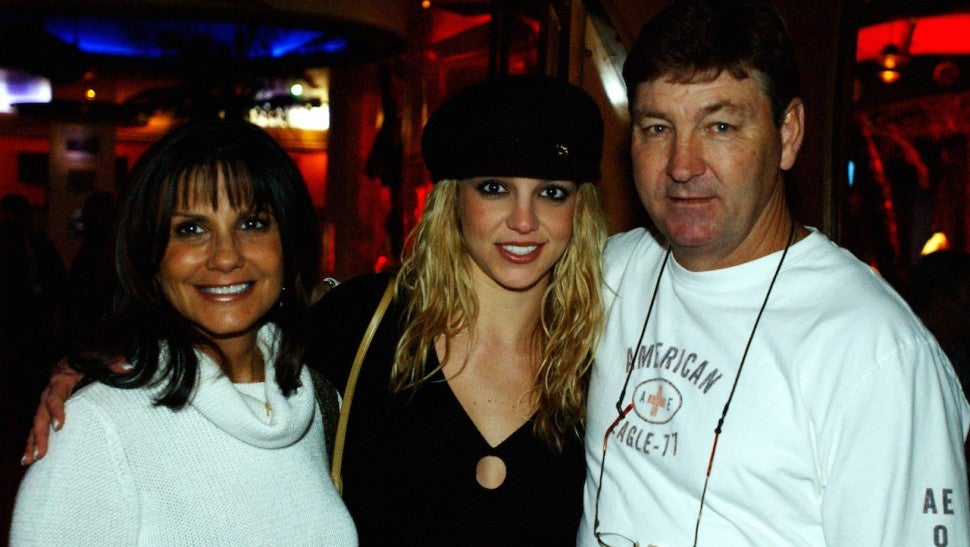 Britney Spears with mother Lynne and father Jamie