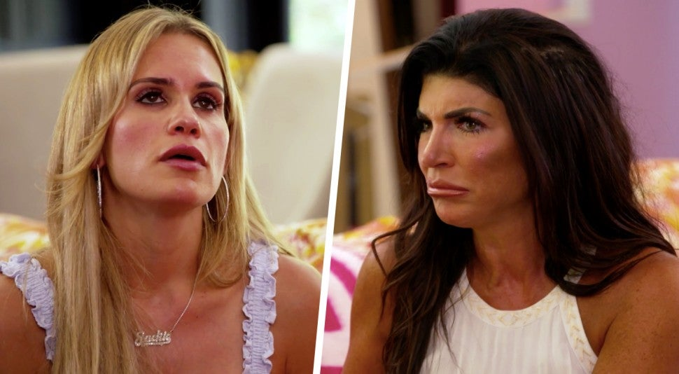 Jackie Goldschneider and Teresa Giudice face off on 'The Real Housewives of New Jersey' season 11 premiere.