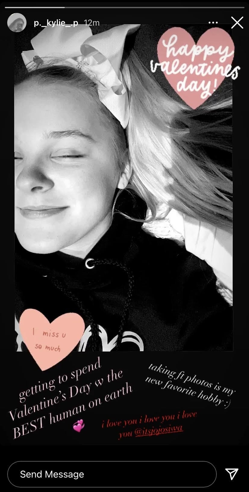 Kylie Tributes JoJo Siwa on Valentine's Day