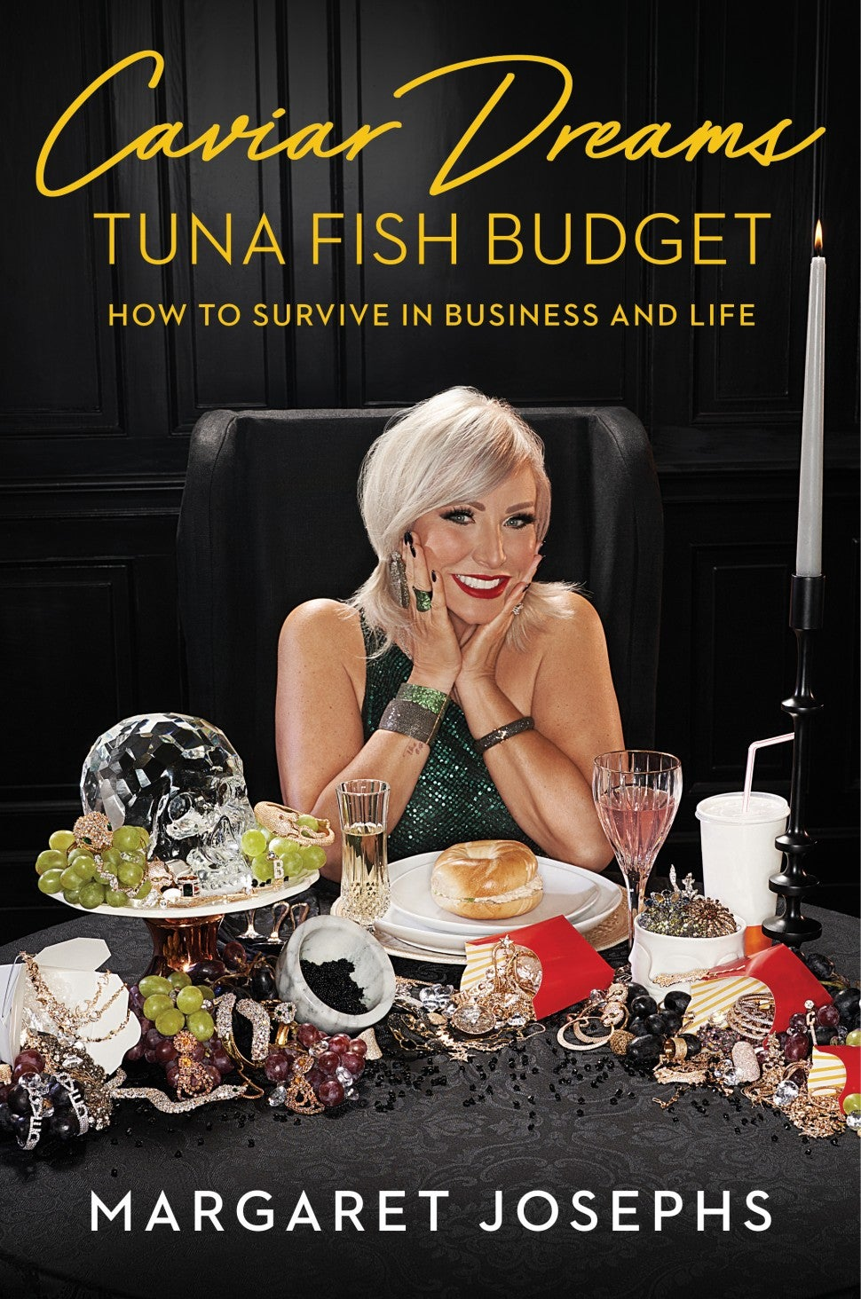 Margaret Josephs' book cover for her memoir, 'Caviar Dreams, Tuna Fish Budget.'