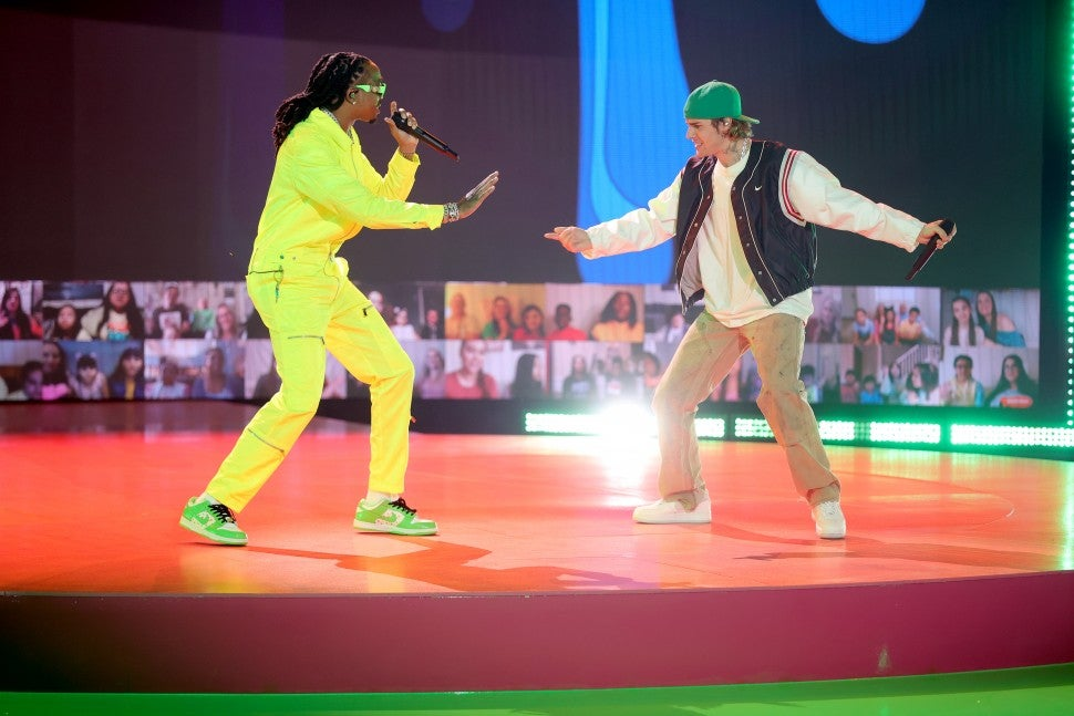 Justin Bieber Quavo Kids Choice Awards 2021