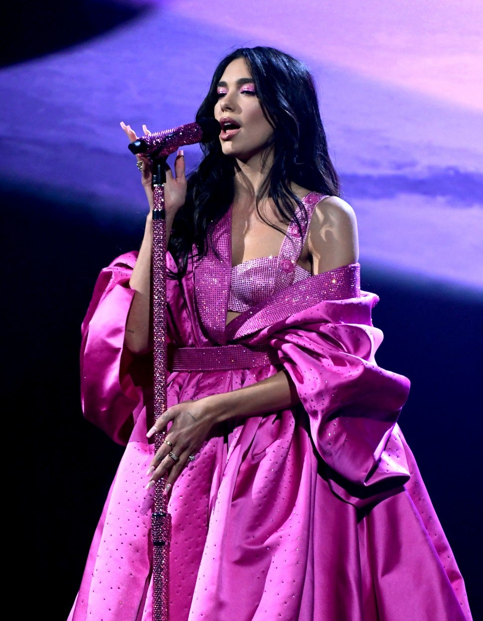 Dua Lipa Sparkles With 'Levitating' Performance Featuring DaBaby at 2021  GRAMMY Awards | Entertainment Tonight