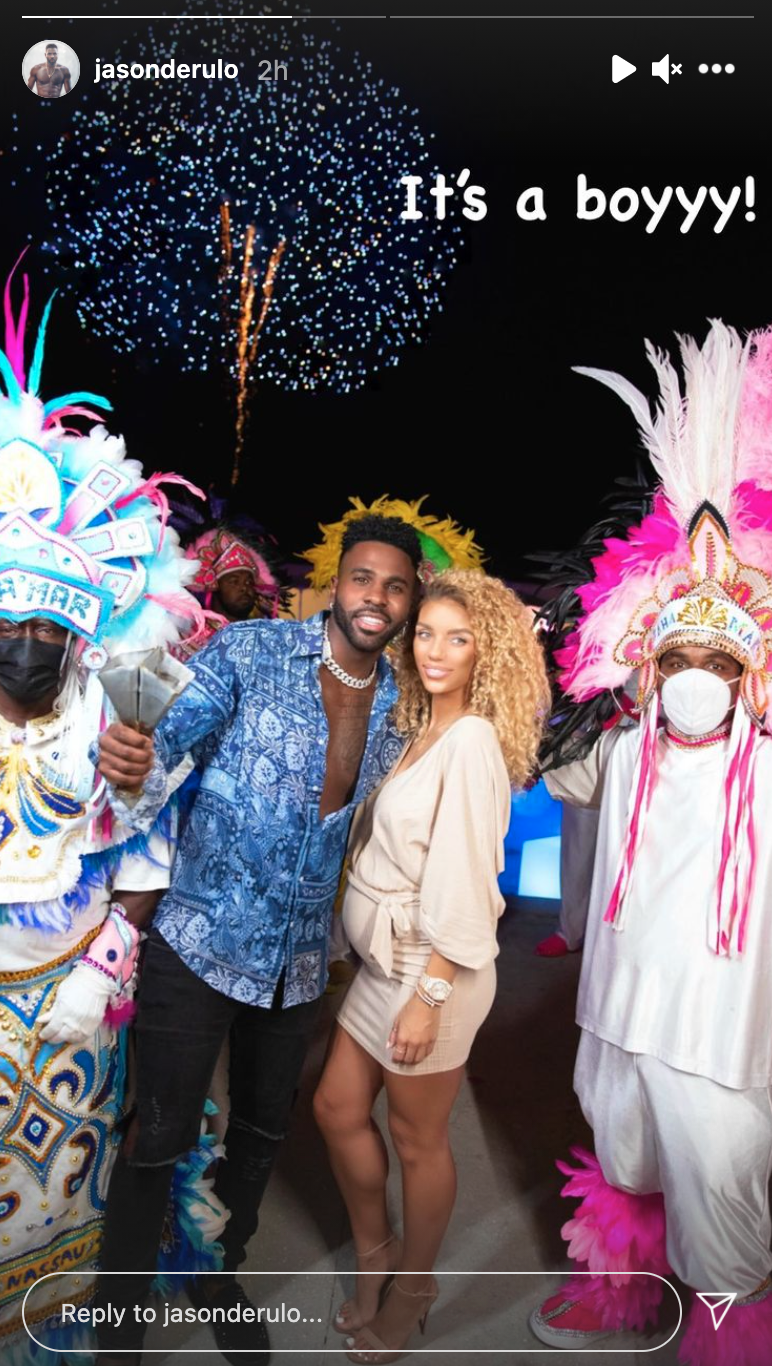 Jason Derulo and Jena Frumes gender reveal