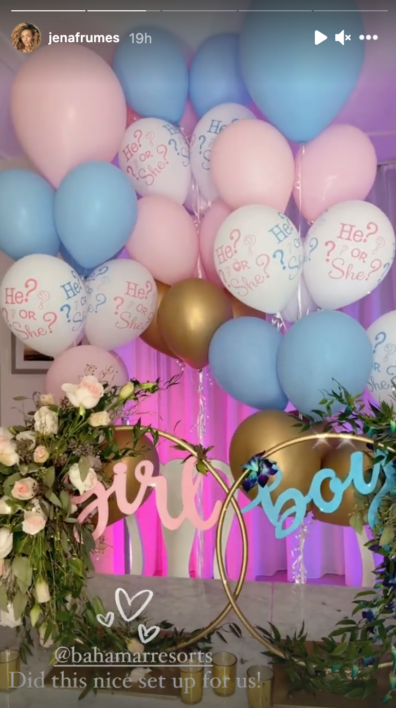 Jena Frumes gender reveal party