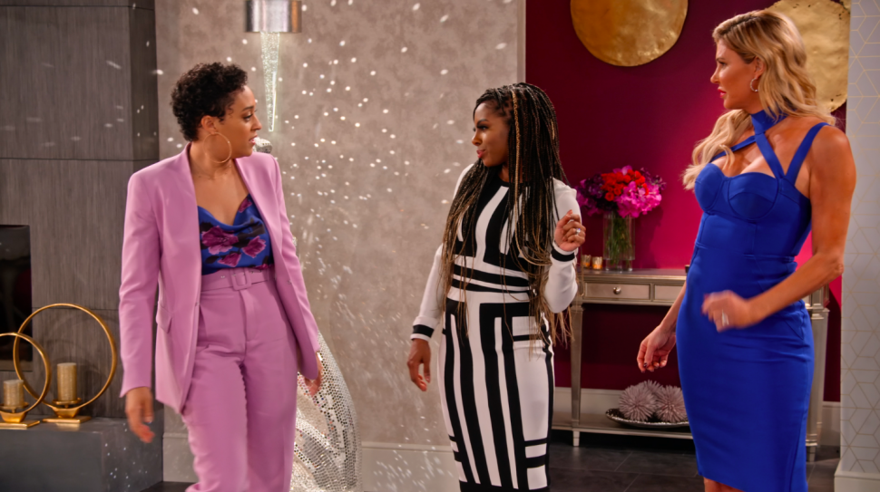 Candiace Dillard and Brandi Glanville face off with Tia Mowry on Netflix's Family Reunion