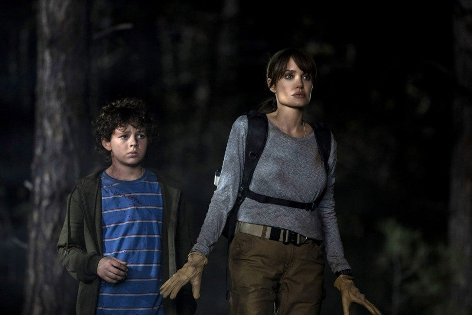 Angelina Jolie and Finn Little in 'Those Who Wish Me Dead'