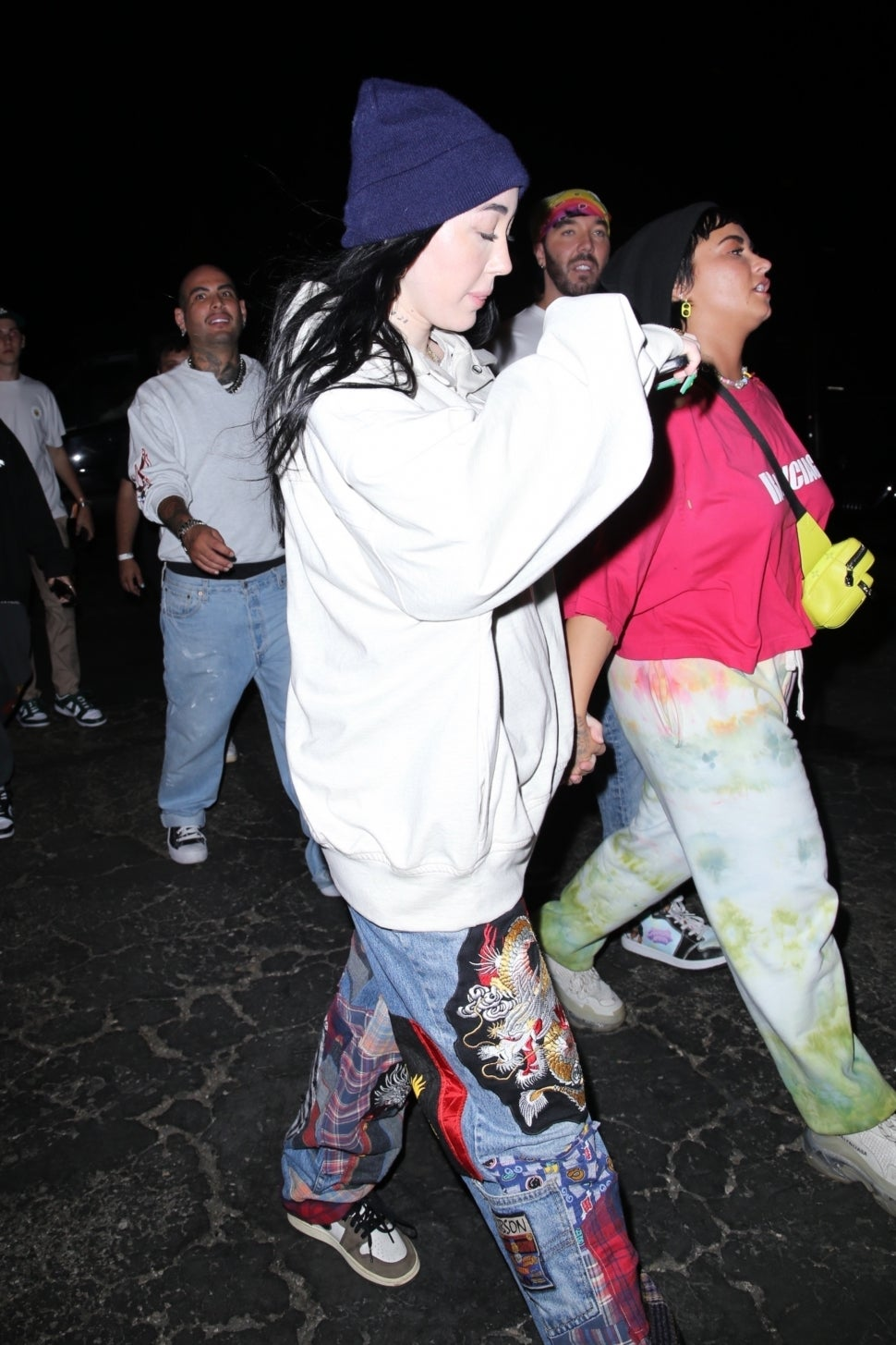 Demi Lovato and Noah Cyrus Hold Hands After Attending Six Flags Event With  Friends | Entertainment Tonight
