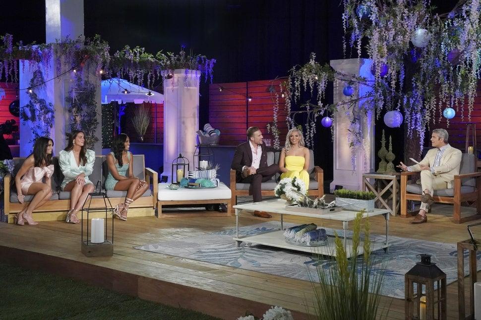 Hannah Berner films the season 5 reunion of Bravo's Summer House