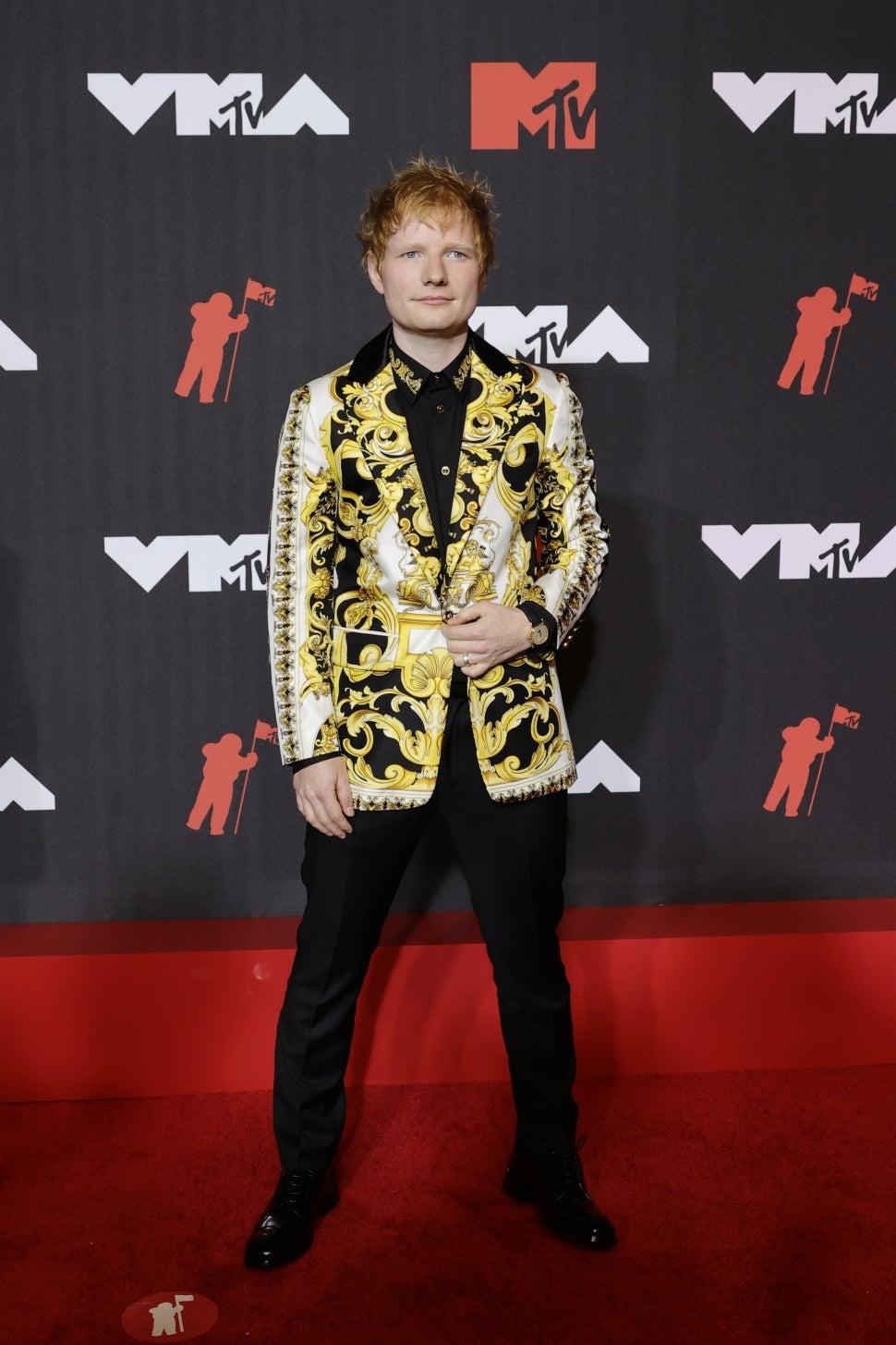 Ed Sheeran attends the 2021 MTV Video Music Awards