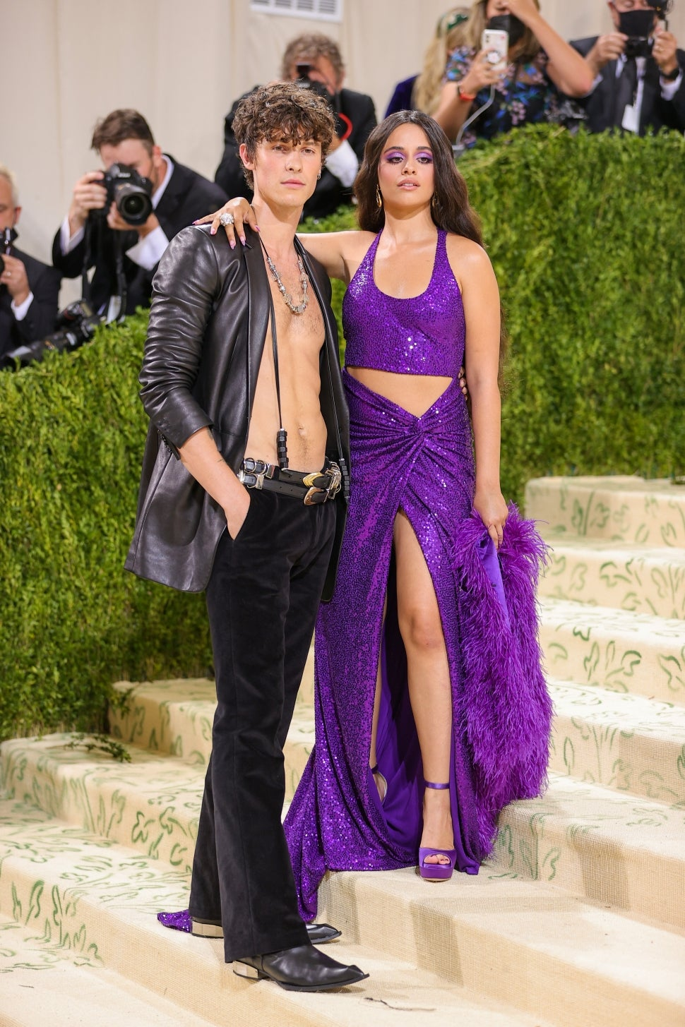 Camila Cabello and Shawn Mendes Look Rock Star Chic at 2021 Met Gala | Entertainment Tonight