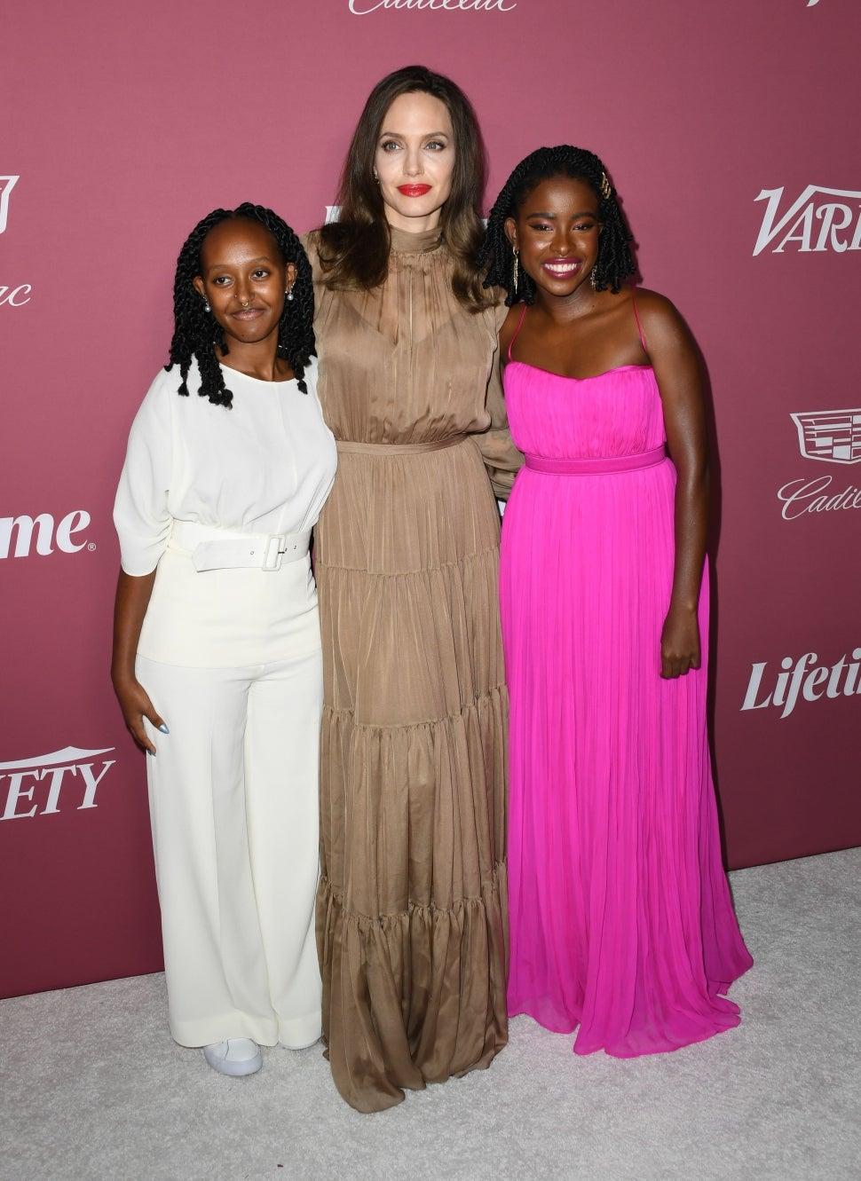 Zahara Jolie-Pitt Angelina Jolie Amanda Gorman Variety's Power Of Women
