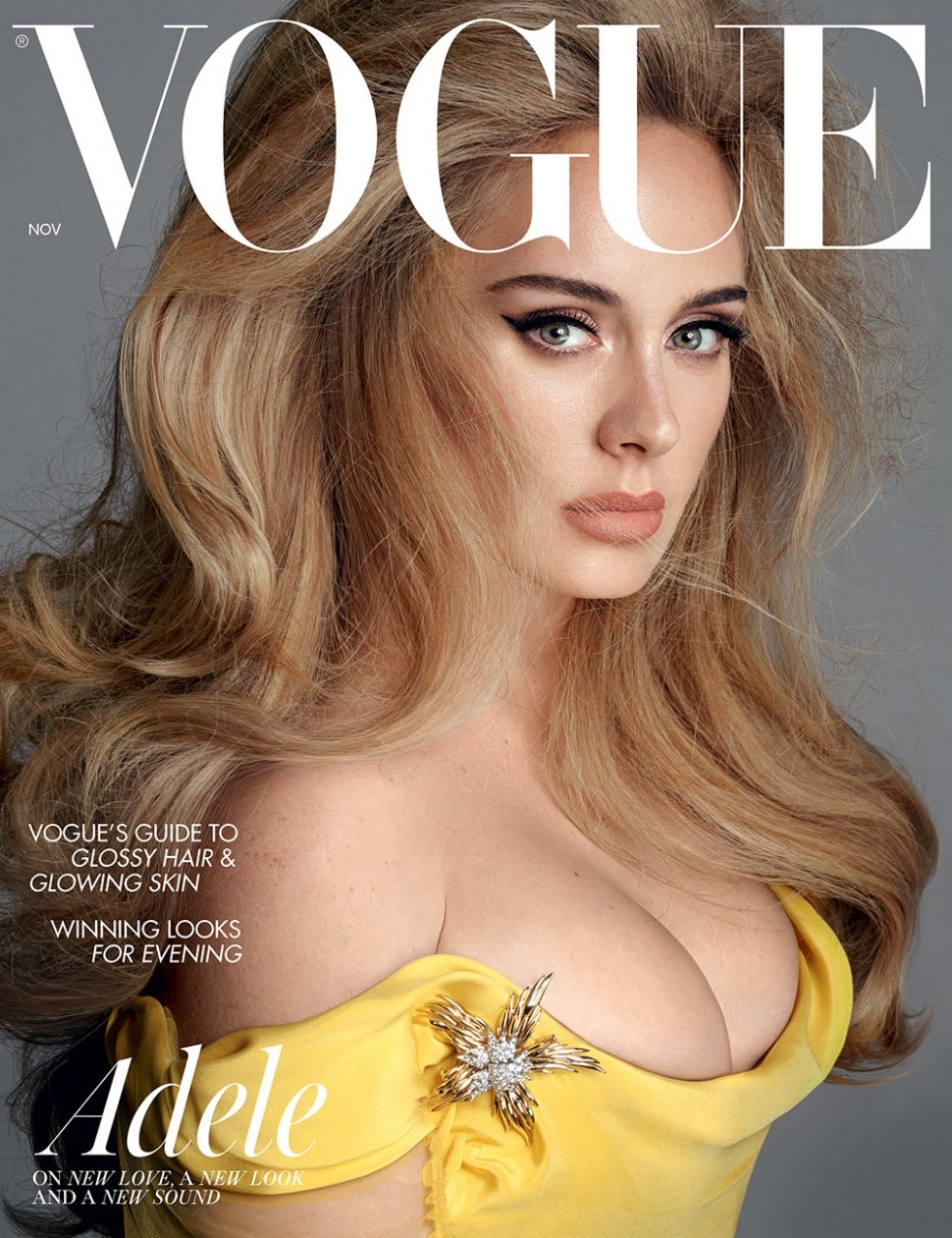 Adele covers the November issues of American and British Vogues.