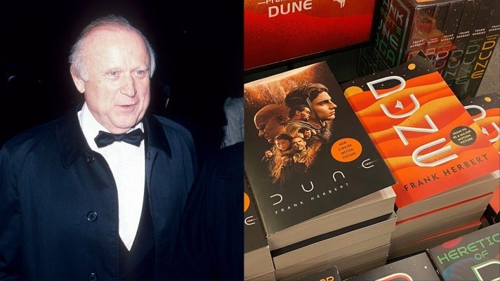 (Right) Frank Herbert / Copies of 'Dune' on display in a bookstore.