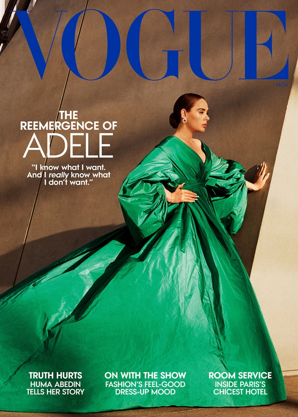 Adele covers the November issues of American and British Vogues