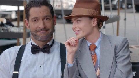Lucifer Season 5 Tom Ellis And Lauren German Tease Possible Lucifer Chloe Wedding Exclusive Entertainment Tonight