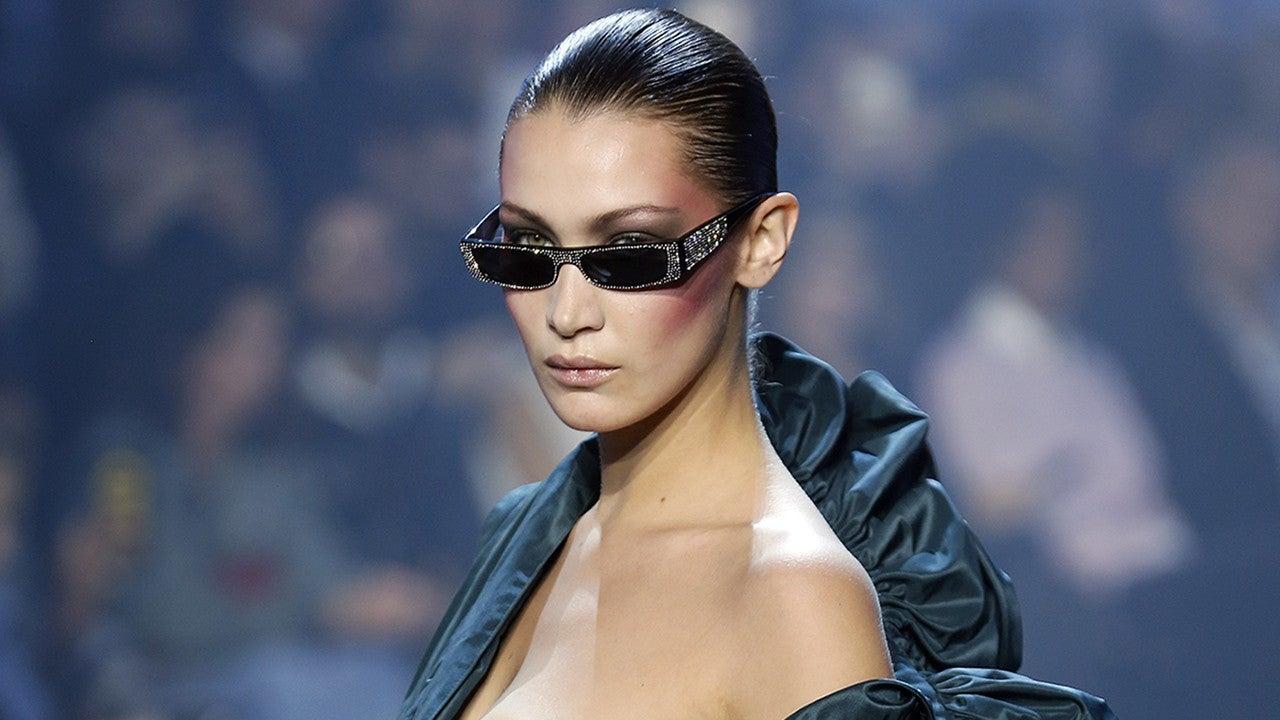 Bella Hadid Suffers A Nip Slip On The Runway In Paris Haute Cout