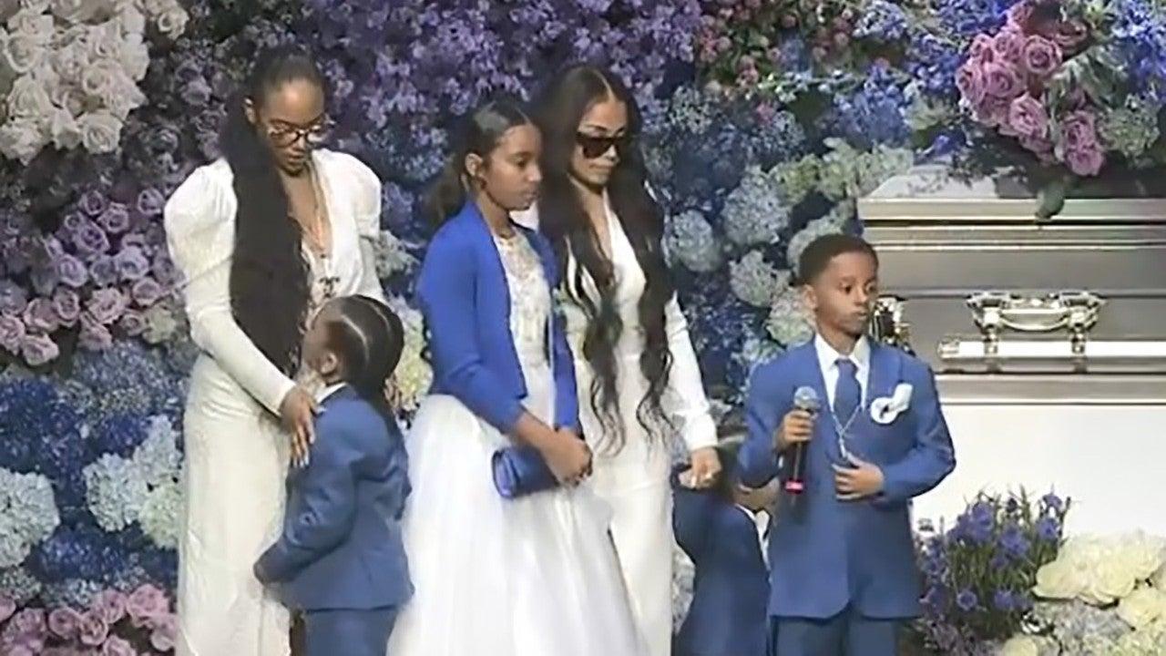 Nipsey Hussle's Girlfriend Lauren London Brings Kids Onstage to Pay Tribute to Him at Memorial Service