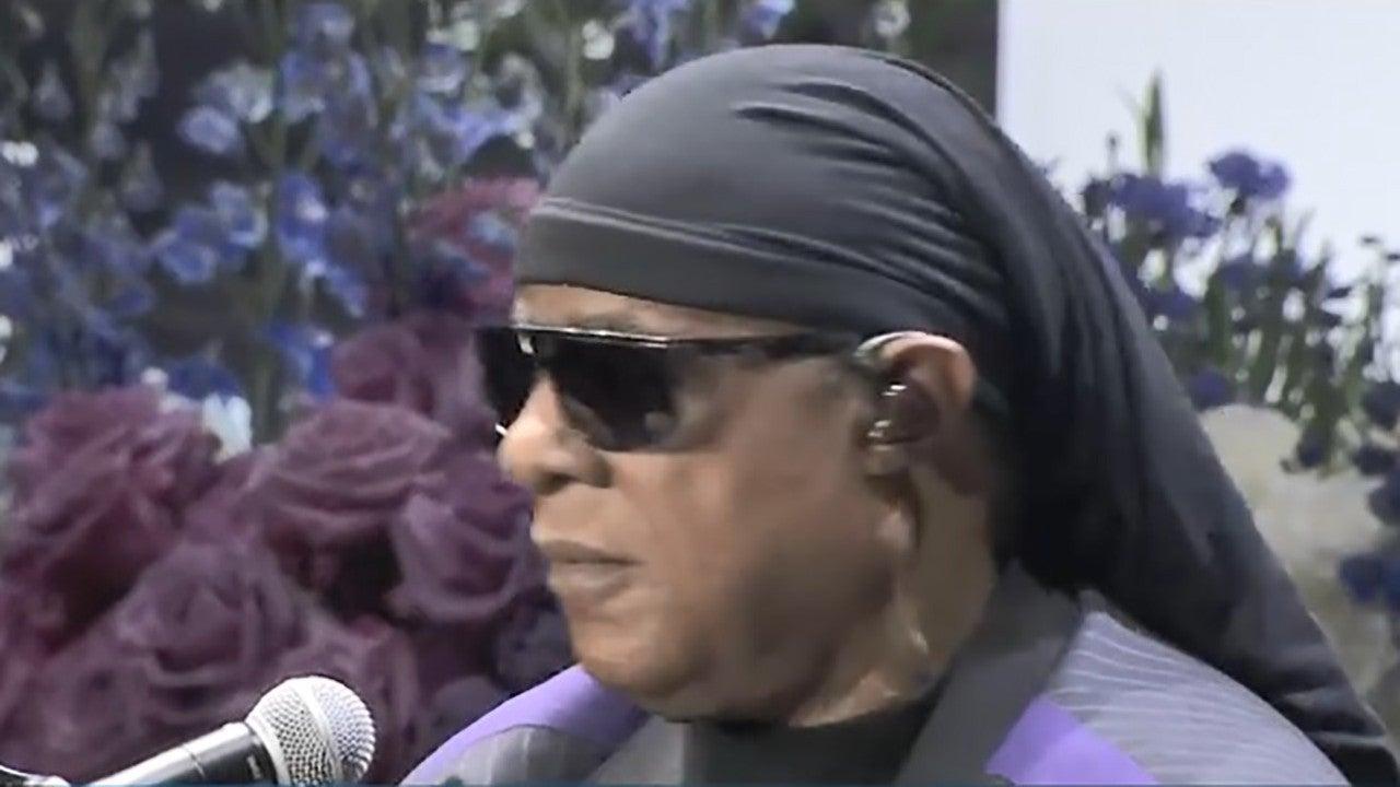 Stevie Wonder Sings 'Tears In Heaven' at Nipsey Hussle Memorial, Gives Passionate Plea for Gun Control