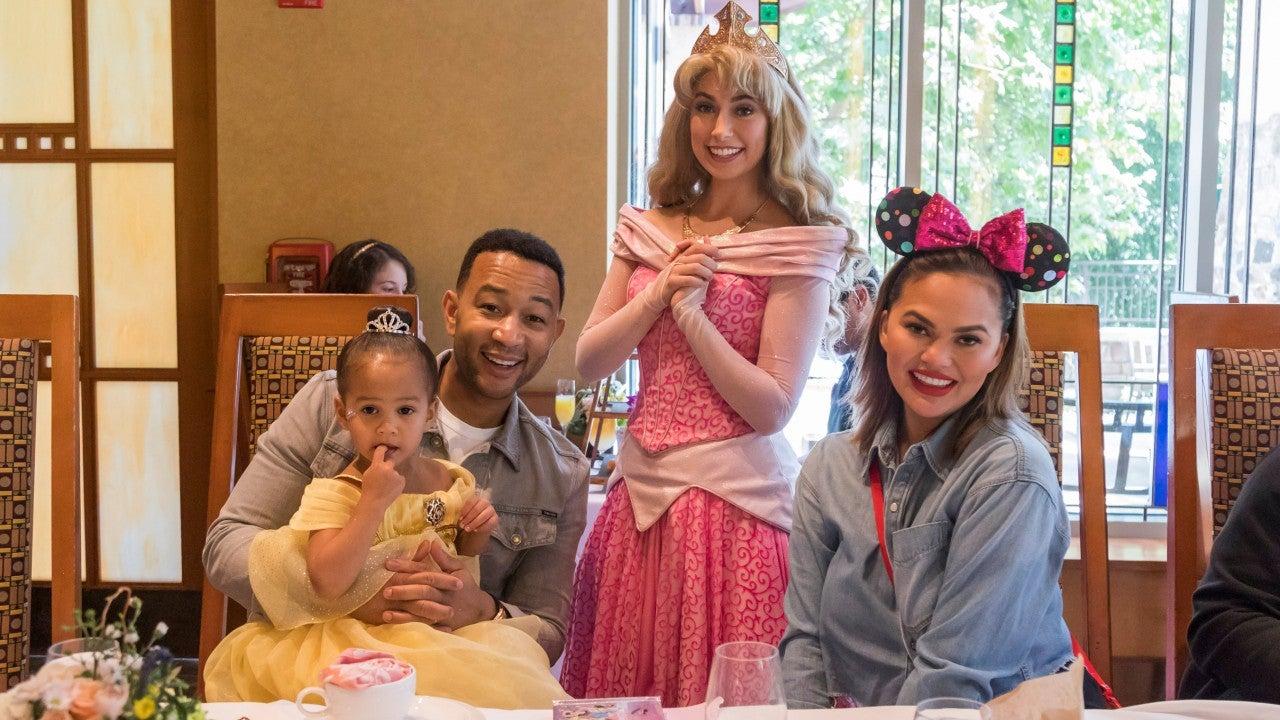 Chrissy Teigen and John Legend Celebrate Luna's 3rd Birthday at Disneyland