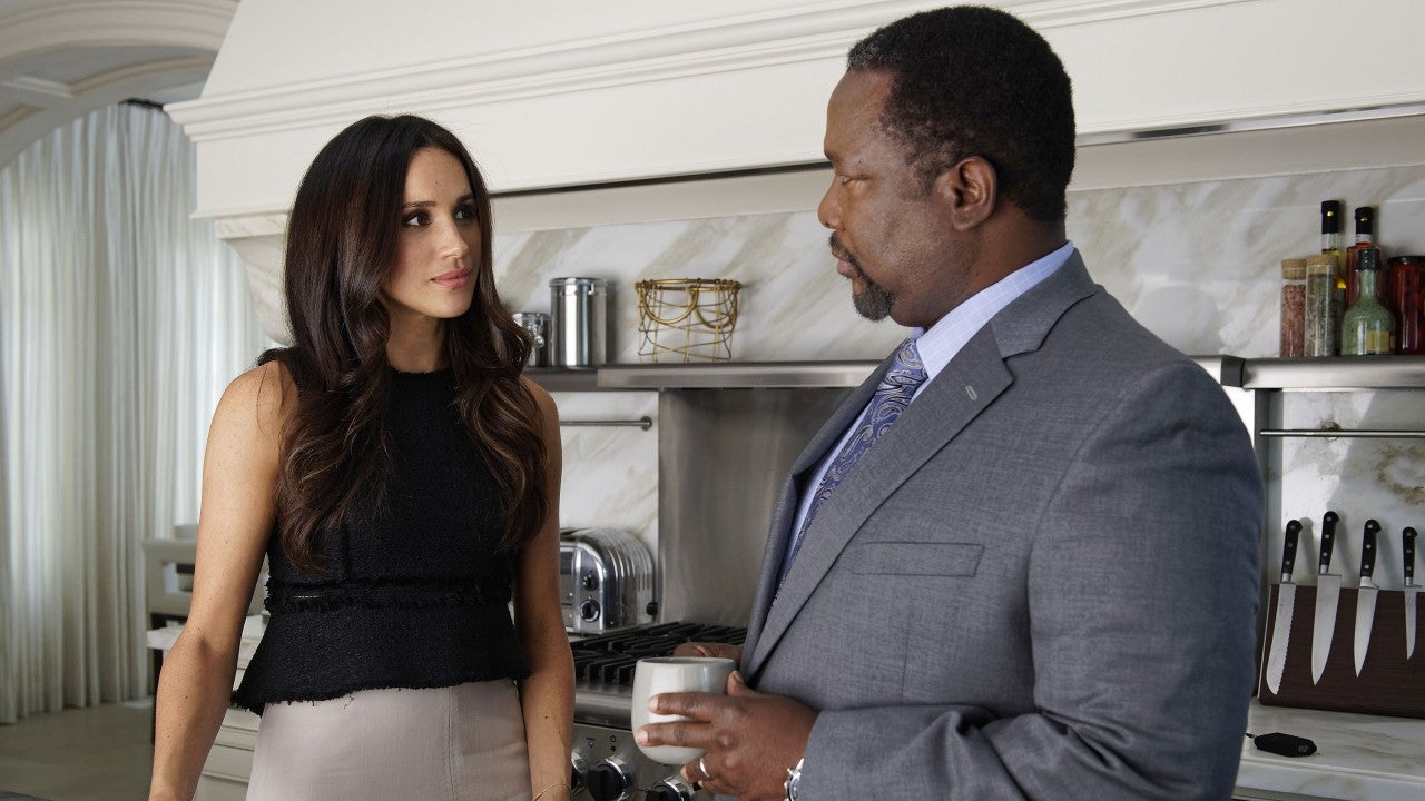 Meghan Markle's 'Suits' Dad Wendell Pierce Arrives in London Ahead of Baby Sussex's Birth