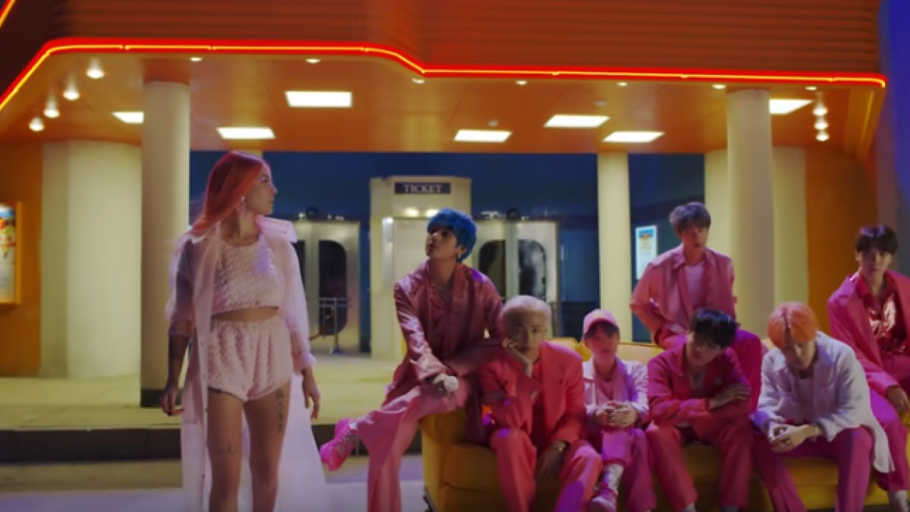BTS Releases First Look at Halsey Collaboration 'Boy With Luv'