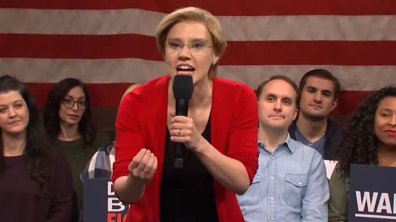 'Saturday Night Live': Kate McKinnon Shines as Impassioned Elizabeth Warren at Town Hall Rally