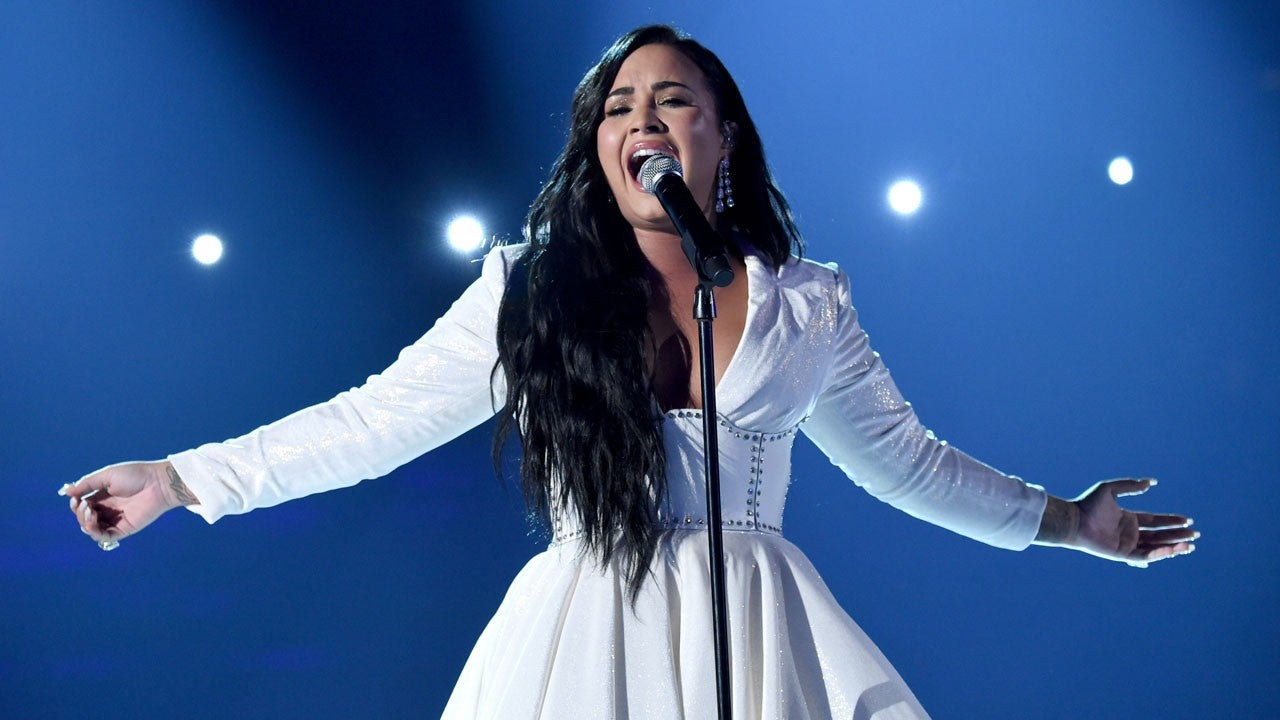 Demi Lovato Cries During Emotional 'Anyone' Performance at 2020 GRAMMY Awards