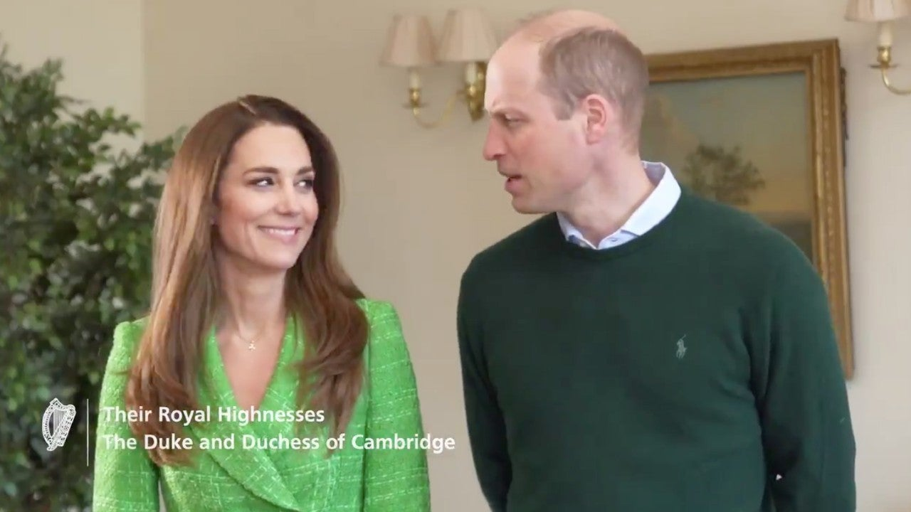 Kate Middleton and Prince William Get Flirty in St. Patrick's Day Video Message With World Leaders