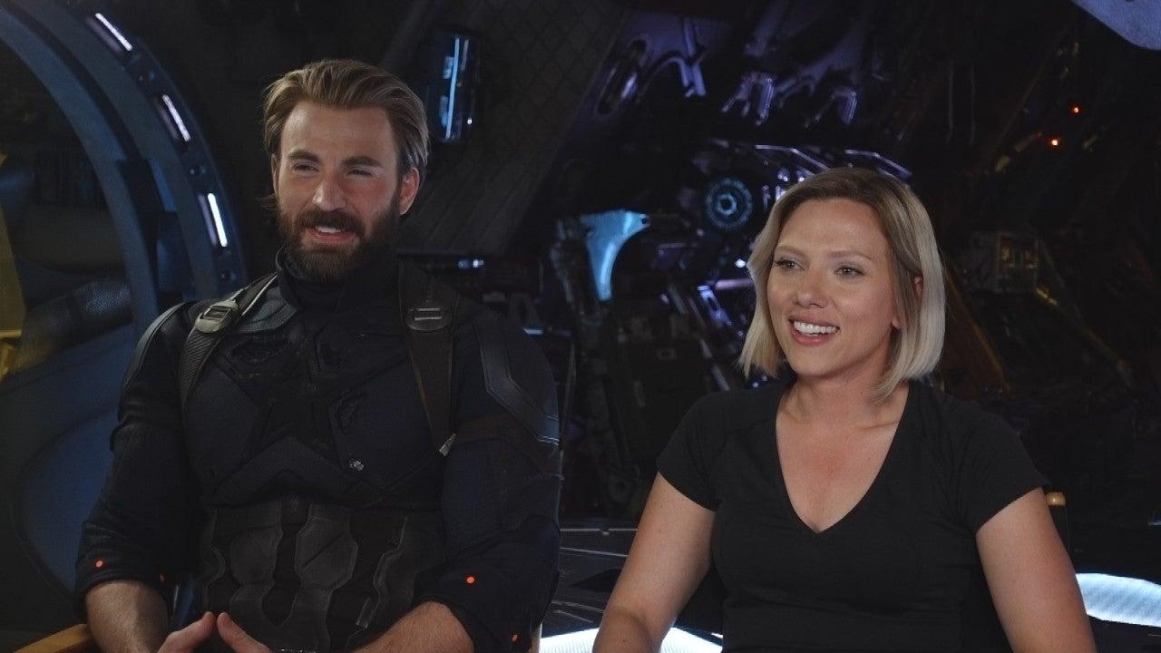 Avengers Infinity War Scarlett Johansson And Chris