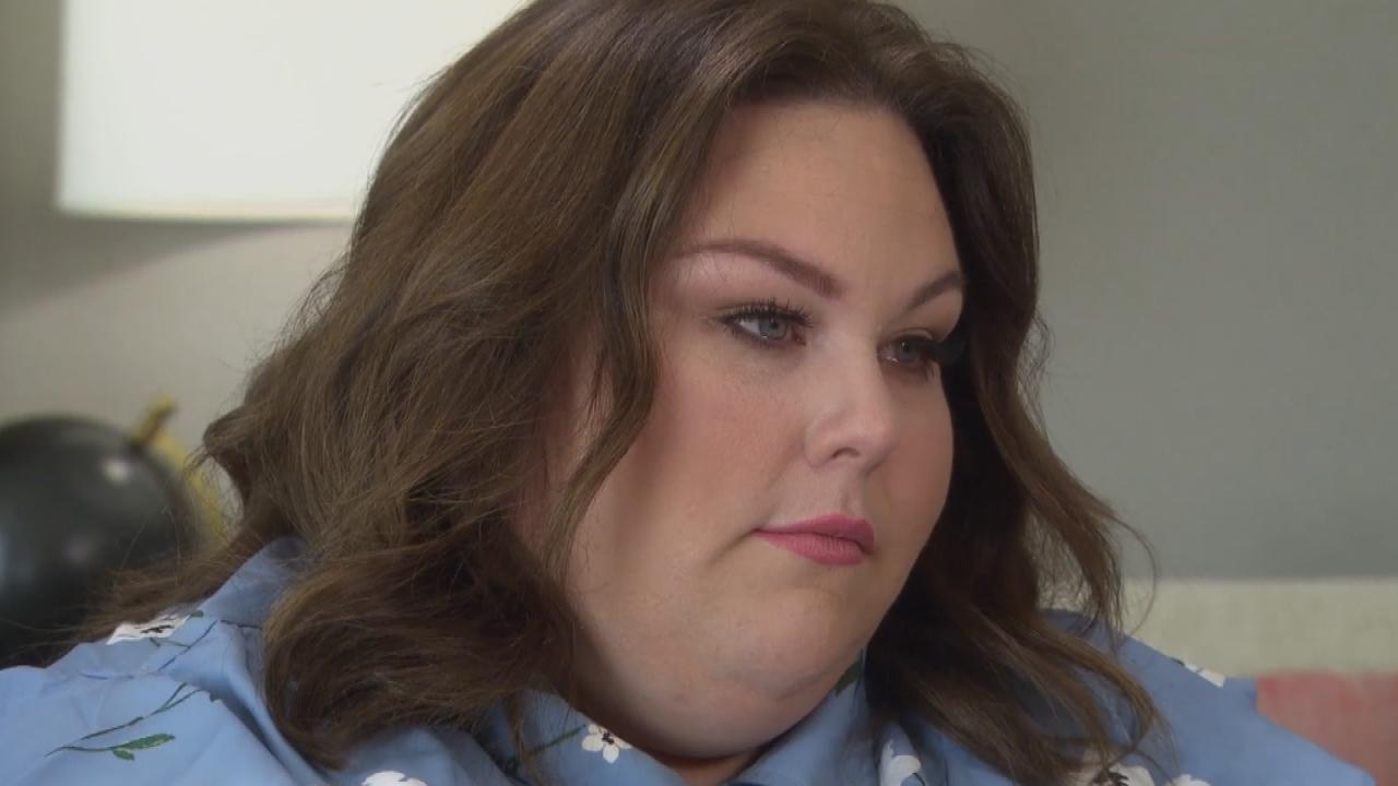 Chrissy metz tears up after connecting with late for Exclusive metz