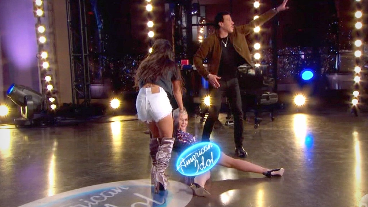 Katy Perry Accidentally Flashes Fellow American Idol