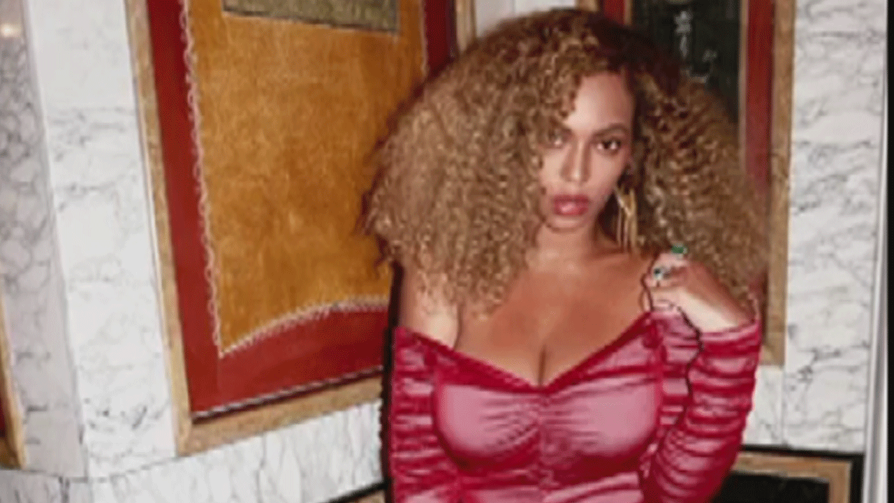 Beyonce Stuns in Sheer Red Dress, Flaunts Her Booty & Post-Baby ...