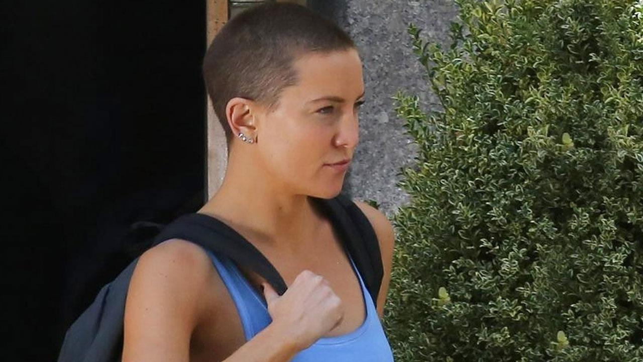 Kate Hudson Flashes Her Shaved Head On The Set Of Sia S