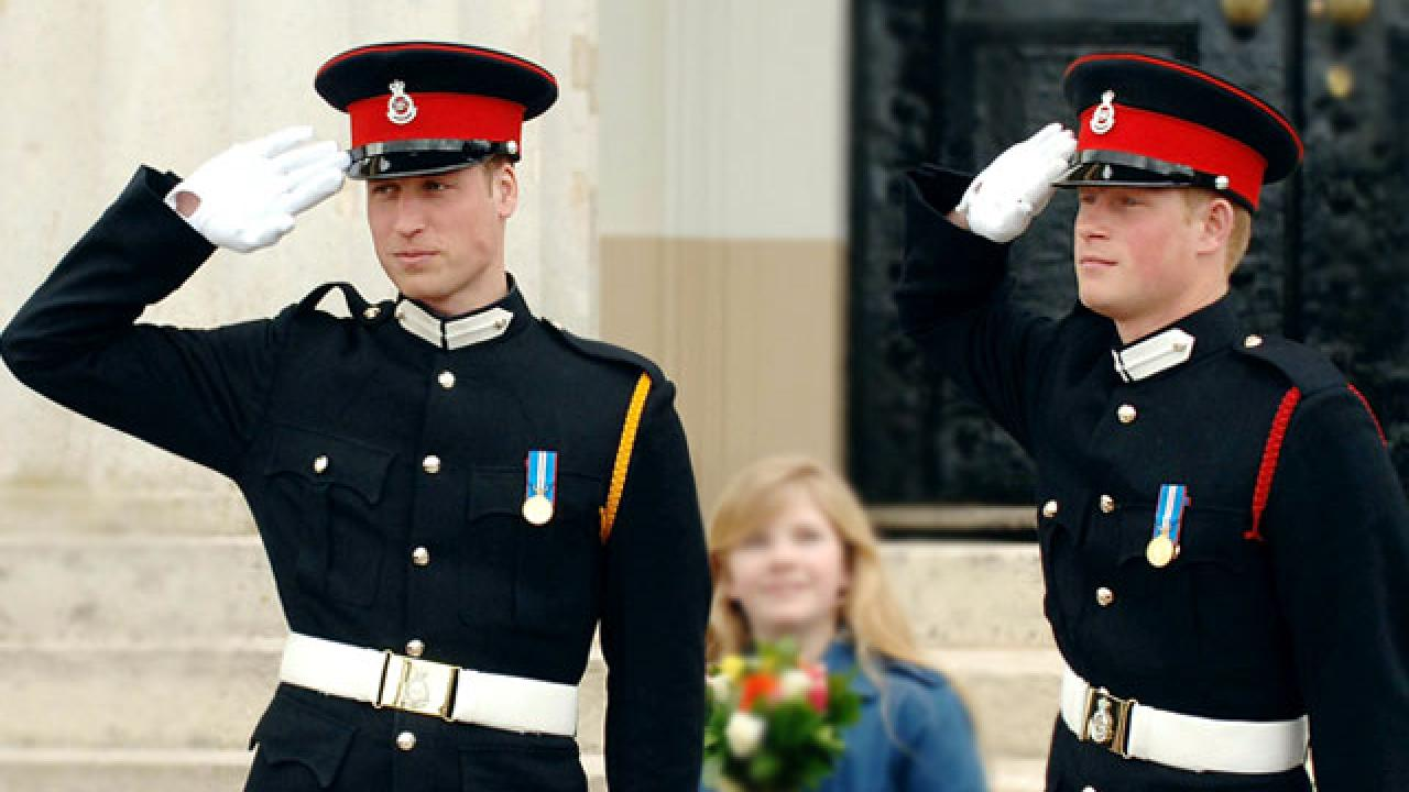revealed prince william and harry to wear military attire