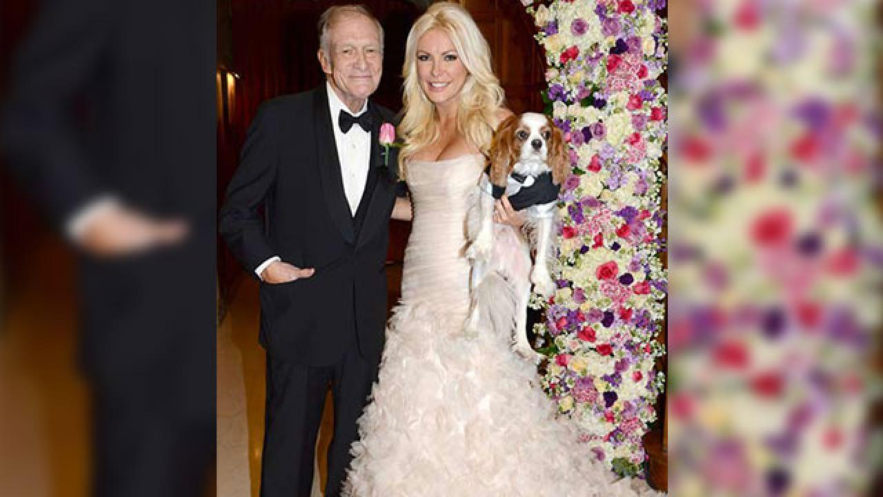 Hugh Hefner Ties The Knot Entertainment Tonight