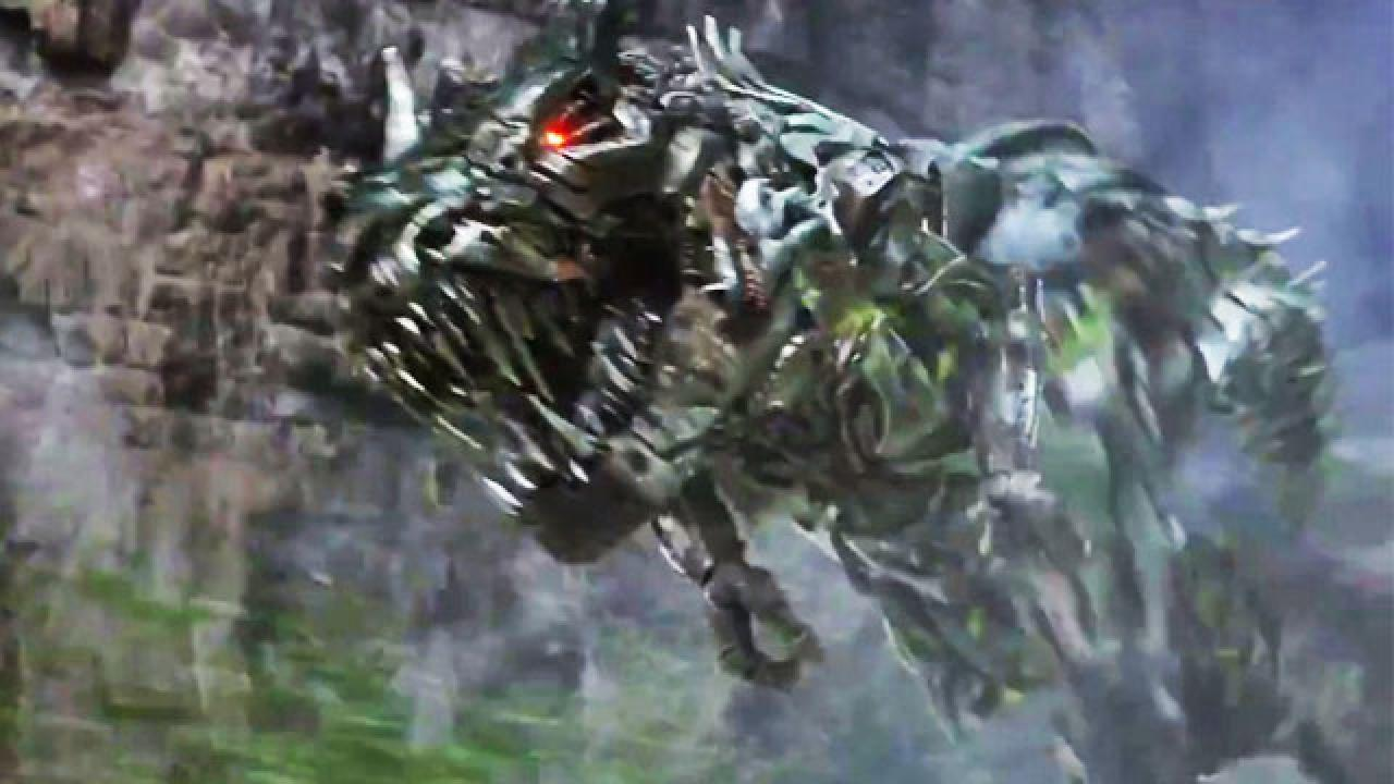 autobots vs robot dinosaurs in new transformers 4 teaser